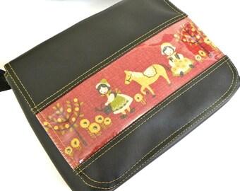 Little Folk vinyl satchel bag