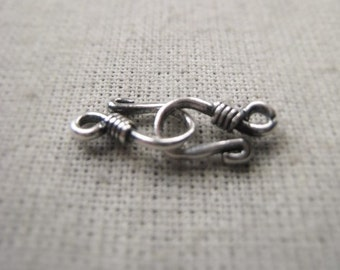 Oxidized Sterling Silver Hook Clasp 10mm Closure Item No. 6921