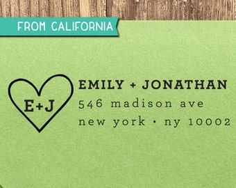 CUSTOM ADDRESS STAMP with proof from usa, Eco Friendly Self-Inking stamp, rsvp address stamp, custom stamp, custom designer stamp heart1
