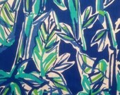 "blue crush bam boom dobby cotton fabric square 18""x18"" ~ lilly summer 2015 ~ lilly pulitzer"