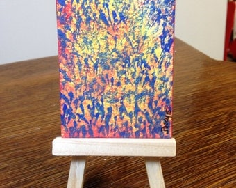 art - abstract Happy Dance - Original Watercolor ACEO painting