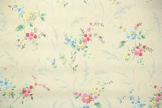 1920er jahre vintage wallpaper von der werft antike floral. Black Bedroom Furniture Sets. Home Design Ideas