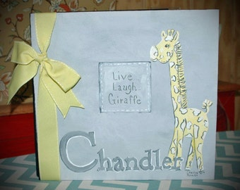 Live, Laugh...Giraffe Baby Memory Book