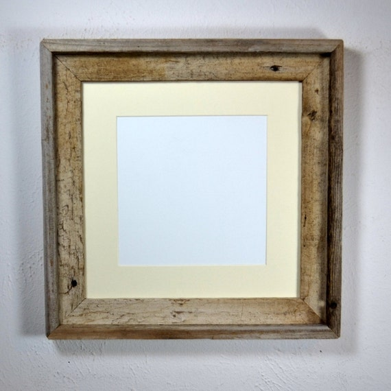 12x12 photo frame from reclaimed wood with mat handmade in the. Black Bedroom Furniture Sets. Home Design Ideas