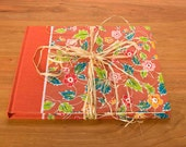 Rustic Guest Book, Journal - Persimmon Wild Flowers, Perfect for Wedding Guest Book, Rustic Wedding, Writing Journal, Diary