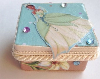 Tooth Fairy Box Princess Tiana Trinket Box Personalized Children S Storage Unique Gift