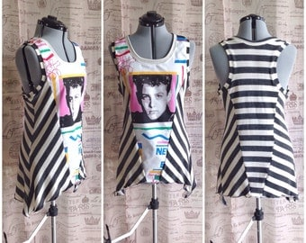 NKOTB Angled Stripe Tank Top 90s New Kids On The Block Shirt Concert Shirt Custom Order