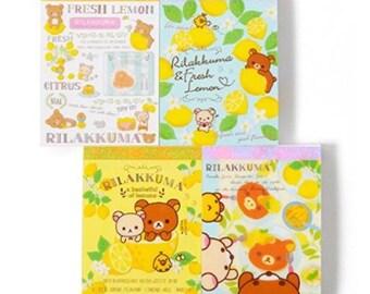 Kawaii Memo - Rilakkuma stationery -set of 4 mini memo pads