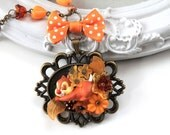 Chipmunk in flower necklace Kawaii Lolita squirrel
