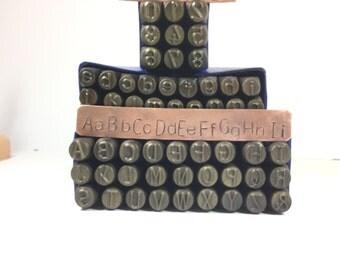 8mm letters 8 mm upper case huge letters lower case letters monogramming stamp large block font metal alphabet steel stamps