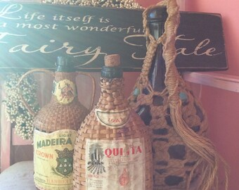 Vintage bottles FRENCH FLEA MARKET french brocante vino wine bohemian gypsy french country New Orleans