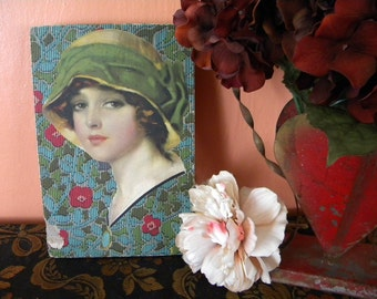 Vintage Candy Box with Flapper Beauty on the Lid by Penrhyn Stanlaws