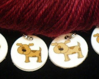 STITCHMARKERS for KNITTERS or CROCHETERS, Puppies