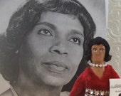 Marian Anderson Black History Singer Doll Miniature