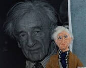 Elie Wiesel Writer Doll Miniature Art Collectible Historical Authors