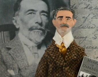 Joseph Conrad Doll Miniature Art Figure Author Writer Classic Literature