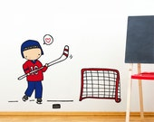 Hockey Player - Wall Decal - Wall Sticker