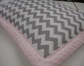 Box Frame Pillow Sham Standard Toddler Travel Size With Minky or Print Back YOU CHOOSE To Match Your Quilt or Blanket From My Shop