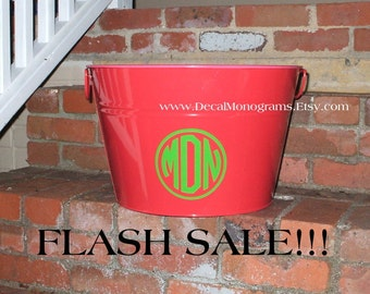 FLASH SALE, Circle Monogram Vinyl Decals