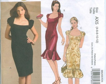 McCalls 5269 Sewing Pattern Sizes 4-6-8-10-12 Evening Gown Sun Dress Office Suit Dress