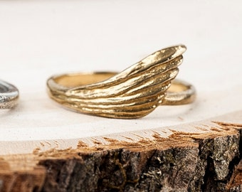 Bronze Freedom Ring | Wing Ring | Nature Inspired Jewelry| Bronze Statement Ring