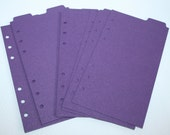 9 top Tabbed shimmer pearl Plum Planner Binder divider pages fits Filofax Personal