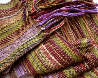 spring olive handwoven scarf
