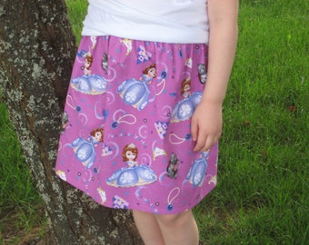 Sophia the First purple Girls skirt (Sizes 6M to size 7)