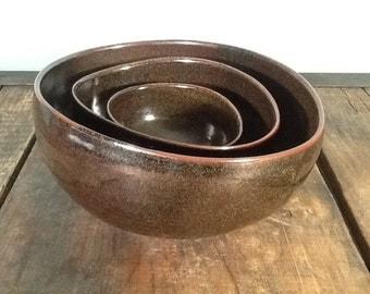 Temoku nesting bowls
