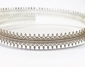 12 Inch (30.5cm) x10mm Width Sterling Silver 935 Strip Gallery Decorative Ribbon, Pattern wire (C000106)