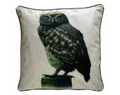 XL Cushion cover for throw pillow of the Little Owl Ecru in 24x24 inch 60x60cm
