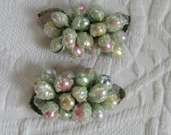 shoe clips . Frosted Fruit Shoe Clips . Winterberry Shoe Clip . Pastel Shoe Clips . Winter Wedding . wedding shoe clip