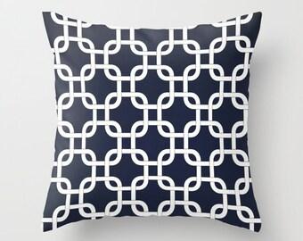 Nautical Pillow Covers Throw Pillows Decorative Pillow Navy Blue Pillow Cushion Cover