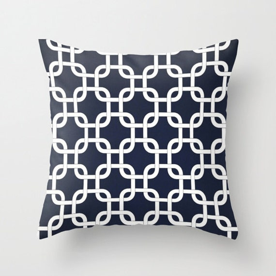 Throw Pillow Covers Nautical : Nautical Pillow Covers Throw Pillows Decorative Pillow Navy