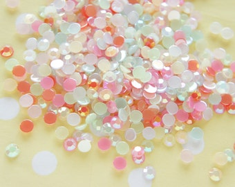 250 pcs Acrylic Faceted Gems/Rhinestones (5mm) Mixed Colors