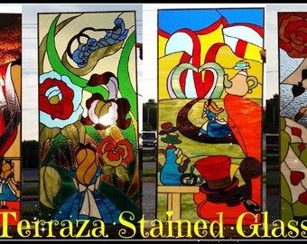 Stained glass Windows - Alice in Wonderland Collection (W-73)