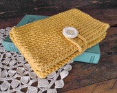 clutch purse ~ crochet pocket clutch ~ mustard yellow