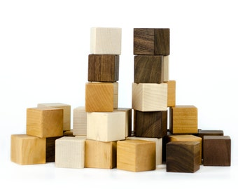 Wooden Blocks, 24 piece toy - Assorted Wood Blocks - First Blocks - Stacking Blocks - Heirloom Blocks - Toy Blocks - Wooden Blocks -BL13