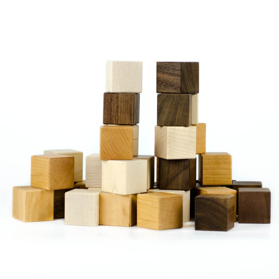 Wooden Blocks, 24 organic baby's first block set