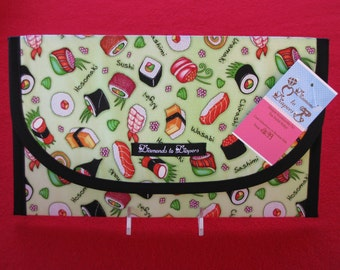 Sushi Please Diaper and Wipes Case Holder Clutch
