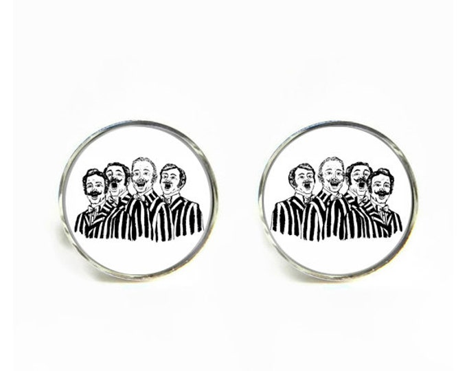 Barbershop Quartet small post stud earrings Stainless steel hypoallergenic 12mm Gifts for her