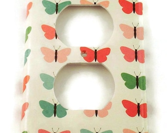 Outlet Plate Light Switch Cover  Wall Decor Switchplate in Sweet Butterfly (132O)