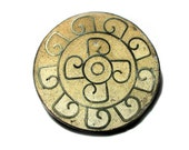 SALE! Vintage Taxco Brooch, Signed 'ERE' Mexican Inlay Sandstone Mosaic Silver Pin
