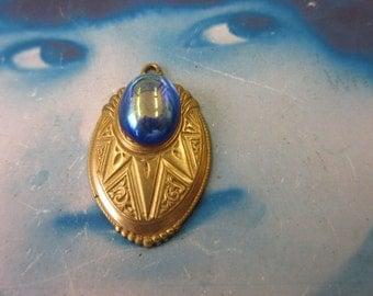 Natural Raw Brass Art Deco Style Medallion Pendant 804RAW x1