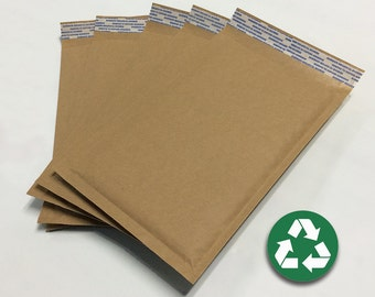 "Size #00 (5""x9"") Recycled Brown Kraft Bubble Mailer - Free Shipping!"