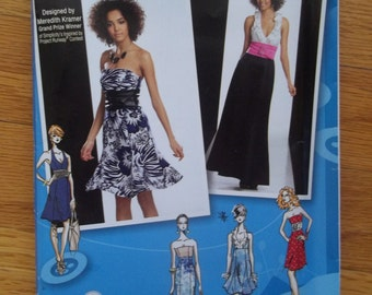 Simplicity 2212 Sewing Pattern ~ Strapless Dress Pattern ~  Halter Dress ~ Maxi Dress Project Runway Size 12-20