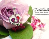 Flower Jewelry, Remembrance Jewelry,Funeral Keepsake, Memory Bead,Sympathy Gift, Funeral Flower, Jewelry, I'll Hold You in My Heart Pendant