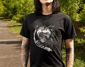 Wings of Sin Decaying Crow Ogham Triskele Printed T Shirt