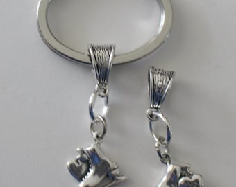 Sterling ICE SKATE Key Ring - Key Chain - Sports
