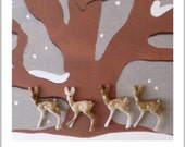 Vintage Teeny Tiny Deer Miniatures